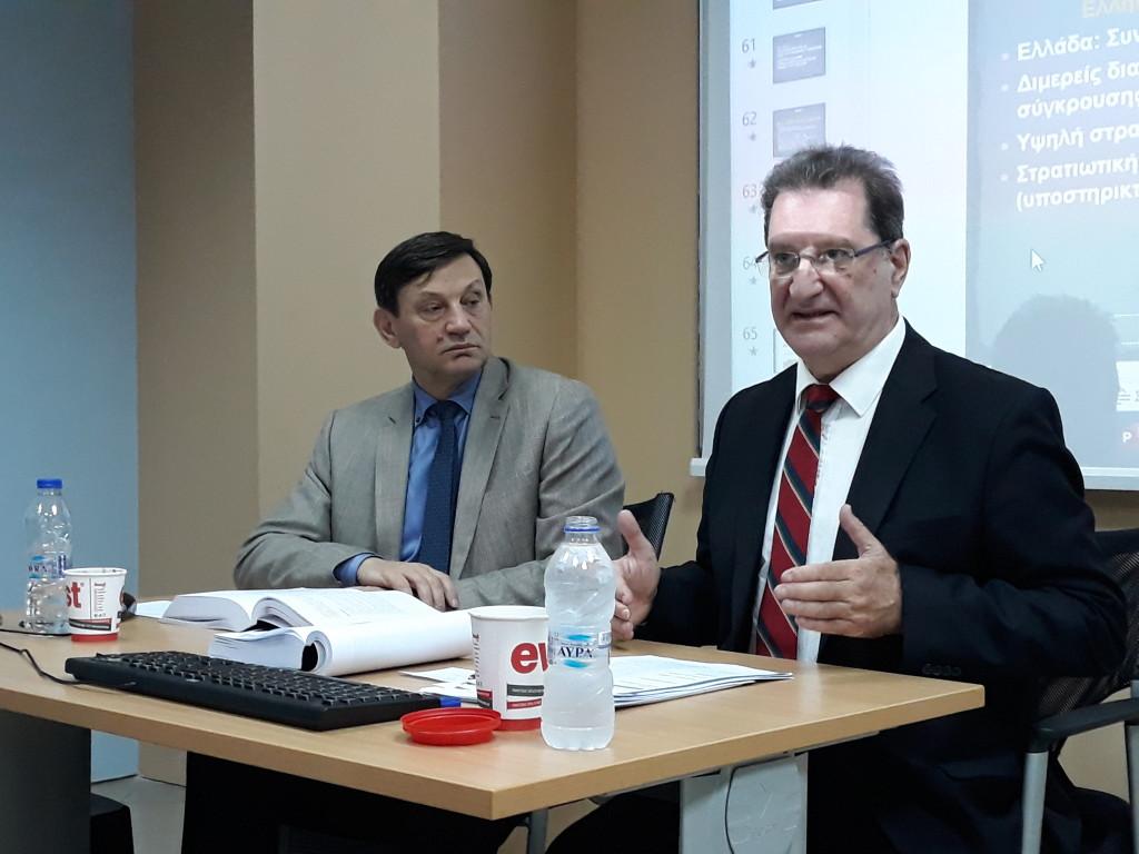 Οι Εισηγητές του σεμιναριου- Από αριστερά προς τα δεξιά Κωνσταντίνος Γκίνης και Κώστας Μαρδάς